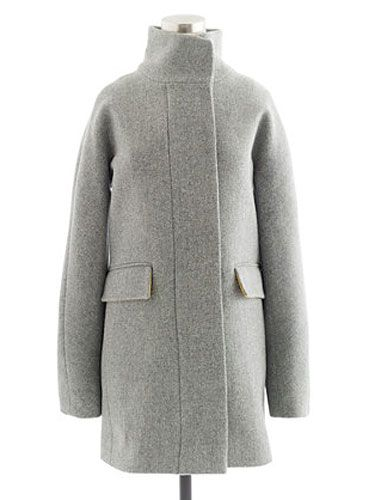 "<p>Hop in this cute coat—it'll keep you nice and toasty, <i>and</i> looking hot.</p>  <p>J. Crew Stadium-Cloth Cocoon Coat, $229.99, <a href=""http://www.jcrew.com/AST/Navigation/Sale/AllProducts/PRDOVR~18593/99102835042/ENE~1+2+3+22+4294967294+20~~~20+17+4294966916~15~~~~~~~/18593.jsp"" target=""_blank"">jcrew.com</a></p>"