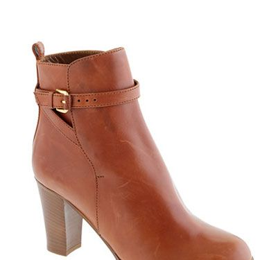 That orangey-brown leather is so bright and warm, it makes these booties look that much cozier. Bonus: Ankle boots are ultra-classy for the office.