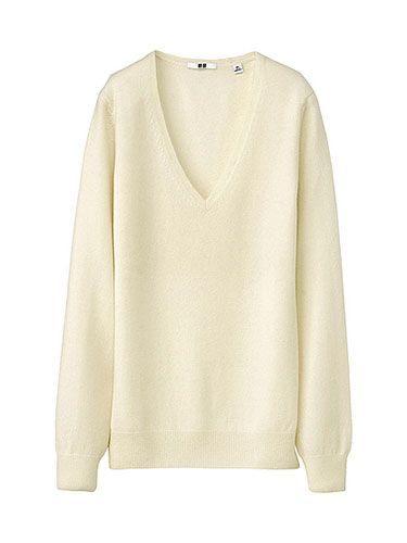 """<p>Even non-bulky cashmere is super warm, and they come in a slew of awesome colors. Uniqlo cashmere sweaters, starting at $39.90, <a href=""""http://www.uniqlo.com/us/womens-clothing/collections/womens-cashmere-collection"""" target=""""_blank"""">Uniqlo.com</a></p>"""