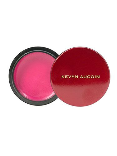<p>The secret to dewy radiance? A creamy, sheer, pop of color on the cheeks. We love this blush by the late, great Kevyn Aucoin – it looks Crayola-bright in the packaging, but it goes on soft and sultry.</p>