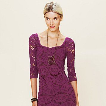 <p>Lace is always so fun and girly to wear but can be tough when your tummy isn't with the program. This Free People body-conscious dress mixes lace with spanx-like technology that is perfect for post-<em>tamal</em> days.</p>