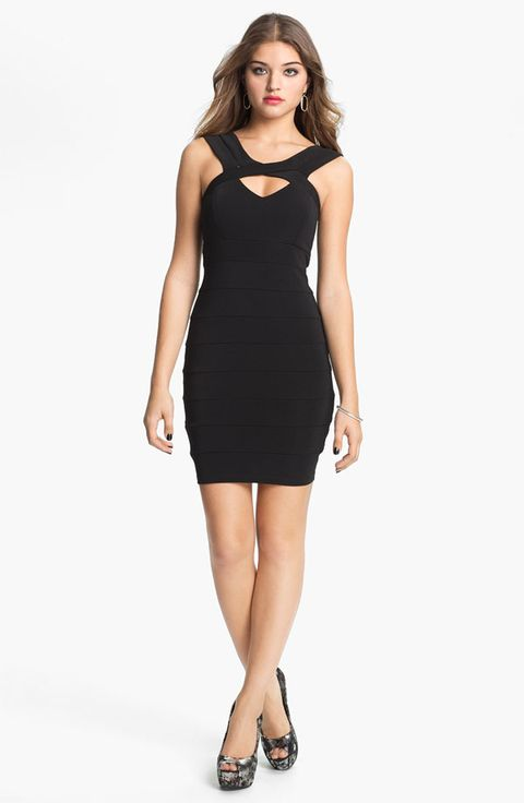 Live hide bodycon babies in to stomach dress pockets