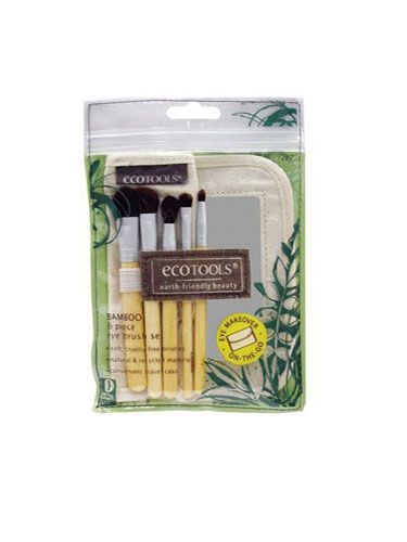 """<p>This totally green set comes with a variety of super-soft shadow, blush, and powder brushes—plus an adorable travel mirror. Just the thing to """"accidentally"""" leave in his medicine cabinet for your next visit!</p>   <p>Eco Tools Eye Brush Set - 6 Piece, $8, <a href=""""http://www.target.com/p/eco-tools-eye-brush-set-6-piece/-/A-13333087#prodSlot=medium_1_23&term=makeup+brushes"""" target=""""_blank"""">target.com</a></p>"""