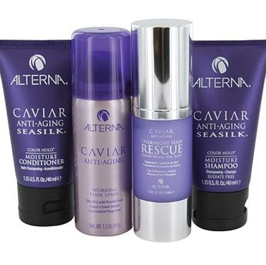 """Ms. Holmes is probably the best-tressed Hollywood divorcee we can think of, so it's only fitting that she's become co-owner and creative director of <a href=""""http://www.alternahaircare.com/caviar/"""" target=""""_blank"""">Alterna Haircare</a>, one of the most-respected salon hair collections around (the products are spiked with caviar which, as you can imagine, gives you glossy, rich-looking locks)."""