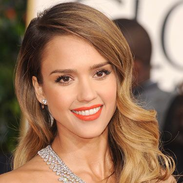 "We took serious beauty <a href=""http://www.cosmopolitan.com/hairstyles-beauty/golden-globes-2013-makeup-and-hair"" target=""_blank"">notes</a> from Alba at the Golden Globes — we'll definitely be rocking electric orange lips, majorly curled lashes, and 1940's waves on our next hot date."