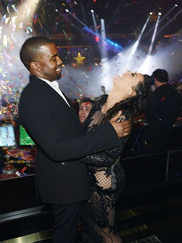 On the night they announced Kim's pregnancy, only one man came between them.