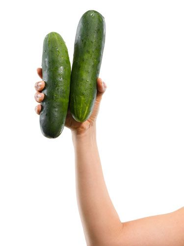 Foods like cucumbers and bananas might seem like a fun replacement for a sex toy, but they can cause imbalances of the vaginal flora (the normal, delicate bacterial balance in our vaginas) and even cause other types of bacterial infections. So eat it, don't use it.