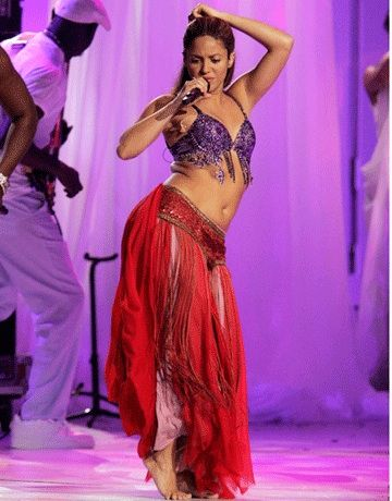 Who can forget the first time they saw Shakira belly dance and immediately felt way less cool?! So glad she's continued this tradition throughout her career. She's mixed both her backgrounds and looks great while doing it!
