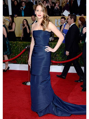 J. Law (in Dior couture) has walking pneumonia and looks this good. Jealous much?