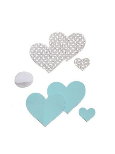 "Need ""something blue"" for your wedding night? These can be your little secret. <br /> <br /> Bristols 6 Blue Nippies, $16.50, <a href=http://www.shopbop.com/something-blue-nippies-bristols-6/vp/v=1/1524294814.htm?fm=search target=""_blank""> ShopBop.com</a>."