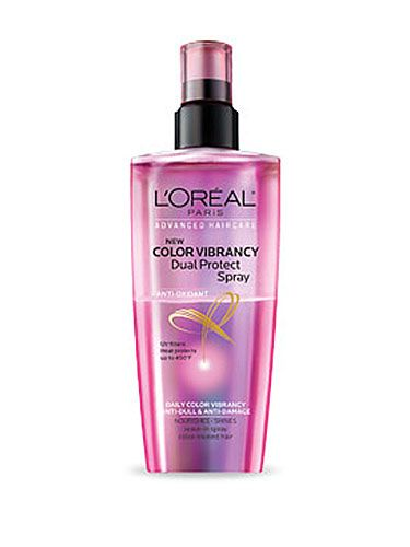 """""""How do you get dark hair to stay vibrant longer?"""" <b></b> Heat from water and styling tools swells the cuticle, letting color escape. Lower the temp, and always use a heat-protecting spray (3)."""