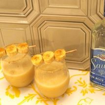 <p><strong>Serves 9 </strong></p><p>1 13-oz can of frozen Pineapple-Orange-Banana Concentrate</p><p>13 parts Sauza® Blue Reposado 100% Agave Tequila</p><p>4 frozen bananas</p><p>1 can of light beer</p><p>Juice of 3 limes</p><p>Combine the first 4 ingredients in a blender and blend until smooth. Pour into a pitcher, add beer and stir. Serve with or without ice. Optional garnish--Brown Sugar Broiled Bananas! If you want...rim your glasses with brown sugar!</p>