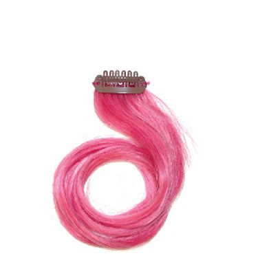 Perfect for hair color newbies who want to test-drive the look without commitment! Simply snap these bright, human hair extensions at the scalp for a peekaboo pop of sultry color.