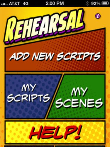 "This is a genius app for actors. It means you don't have to carry around or print out scripts. I can make notes directly on the app, highlight my scenes, run and record lines, take reference photos- it's pretty indispensable.  <br /><br /> $20, <a href=""https://itunes.apple.com/us/app/rehearsal-2/id408873298?mt=8"" target=""_blank"">itunes.com</a>"