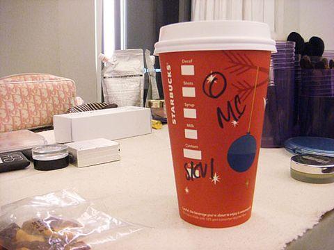 Gluten-free Miley mainstays: Coffee, Coke Zero, and nuts