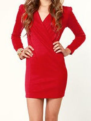 "<p>Obvi for Valentine's Day you need a little red and with this dress we do mean little. This knit dress comes with lightly padded shoulders that give you that vamp factor and the v-neck offers you the option to show off the goods or not.</p> <p>$35, <a title=""Red dress"" href=""http://www.lulus.com/products/foreign-film-red-dress/74698.html#tab-reviews%20"" target=""_blank"">Lulu's</a></p>"