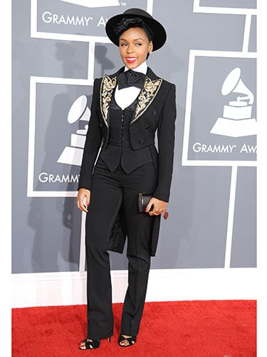 Janelle's not taking any bull with this matador look, that's for damn sure.