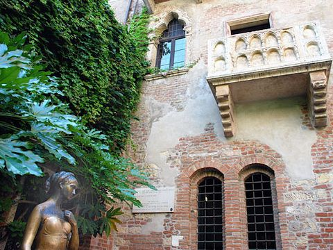 Wherefore art though Juliet? Romantics who travel to the Shakespearean lover's hometown of Verona, Italy scrawl adoring graffiti messages on the walls and leave letters to Juliet, asking for relationship advice. (Tip from the grave: Steer clear of poison.)