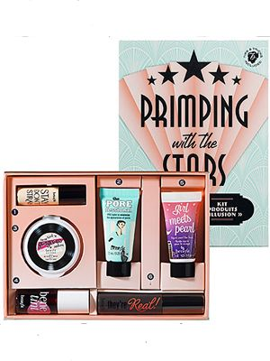 "<p>Every girl needs her basic makeup kit, this year surprise your friends with Benefit's new <a title=""Primping With The Stars"" href=""http://www.sephora.com/product/productDetail.jsp?skuId=1476449&productId=P377272"" target=""_blank"">'Primping With The Stars'</a> value set. A value set will give a range of products so there is something everyone can use. This set is sure to leave you night on the town ready with face, lip, eye, and cheek Benefit faves like Benetint and Stay Don't Stray Primer for eyes. </p>"
