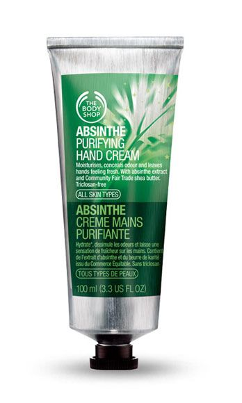 """<p>A sip of absinthe, the legendary liquor, is famous for adding a heady sensuality in the bedroom! Who knew this aphrodisiac was also a fab moisturizer? This hand cream leaves skin feeling lusciously soft. </p><p>The Body Shop Absinthe Purifying Hand Cream, $10, <a href=""""http://www.thebodyshop-usa.com/shop-by-line/absinthe/absinthe-hand-cream.aspx"""" target=""""_blank"""">thebodyshop.com</a></p>"""