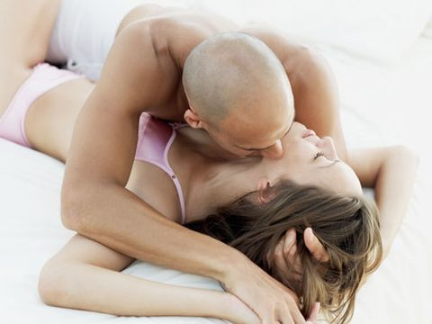 <p>Maybe your guy just need a lesson about the female body: explain to him that many women need an average of 20 minutes of foreplay to be physically ready for sex, that foreplay is a <em>must </em>for most women to orgasm, and a woman's G-Spot can not even be found unless she is properly aroused first. You can also sprinkle in that more foreplay can help give him a stronger erection. These facts alone should be incentives for him to want to explore your body before the major action starts.</p>