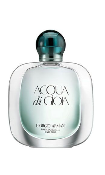 "<p>Blended with Italian limone, brown sugar, and mint, this irresistible scent leaves your strands smelling as fresh and clean as a Mojito in July. First-date-essential.</p> <p><a href=""http://www.giorgioarmanibeauty-usa.com/acqua-di-gioia-hair-mist/A602,default,pd.html?cm_mmc=Mercent-_-CSE-_-Google-_-acquadigioiahairmist&cm_mmc=LabeliumSearch-_-GooglePE-_-any-_-any&cse=gab_google&mr:trackingCode=242A4F9E-0AC8-E011-9A77-001B21631C34&mr:referralID=NA&mr:adType=pla&gclid=CObIuO-P07UCFYdT4AodRRUAOg"" target=""_blank"">Giorgio Armani Acqua di Gioia Hair Mist</a>, $25</p>"