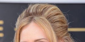 """<p>Adele always gets it right on the red carpet. She works her signature winged eyeliner look so well! Her makeup artist/hair stylist Michael Ashton shows us how to get her look:</p> <p>Apply <a href=""""http://www.giorgioarmanibeauty-usa.com/Maestro-Foundation/A300,default,pd.html?dwvar_A300_color=2&start=2&cgid=foundation."""" target=""""_blank"""">Giorgio Armani Maestro Fusion Makeup</a> all over face to even skin (Adele's wearing #14). Try <a href=""""http://www.lancome-usa.com/TEINT-MIRACLE-INSTANT-RETOUCH-PEN/1000512,default,pd.html?dwvar_1000512_color=3&start=2&q=Lancome%20Teint%20Miracle&cgid=makeup-concealers&cm_vc=search"""" target=""""_blank"""">Lancome Teint Miracle Instant Retouch Pen</a> to brighten inner tear ducts and high planes of the face. Contour face under cheekbones and alongside temples with <a href=""""http://www.smashbox.com/product/6016/17811/Cheeks/Bronzer/BRONZE-LIGHTS/MSNs-33-BEST-Beauty-Products/index.tmpl"""" target=""""_blank"""">Smashbox Contour Powder</a> (when contouring always make sure the bronzer is matte) and set the look with <a href=""""http://www.giorgioarmanibeauty-usa.com/luminous-silk-powder/A232,default,pd.html?dwvar_A232_color=2%20-%20ivory&start=1&cgid=powder&cm_vc=Search&q=powder"""" target=""""_blank"""">Giorgio Armani Silk Luminous Powder </a>(Adele's wearing #14). Fill in eyebrows with <a href=""""http://www.giorgioarmanibeauty-usa.com/eye-brow-defining-pencil/A055,default,pd.html?dwvar_A055_color=2%20-%20brown&cgid=brows"""" target=""""_blank"""">Giorgio Armani Brown Defining Pencil</a> and apply <a href=""""http://www.giorgioarmanibeauty-usa.com/eyes-to-kill-intense-eyeshadow/A418,default,pd.html?dwvar_A418_color=1%20Blast%20of%20Blue&start=4&cgid=eyeshadow&cm_vc=Search&q=Eyes%20to%20kill%20"""" target=""""_blank"""">Giorgio Armani Eyes to Kill Quad in #6</a> to create golden toned eyes. For that  perfect cat eye, try <a href=""""http://www.maybelline.com/products/eye-makeup/eye-liner/eye-studio-lasting-drama-gel-eyeliner.aspx"""" target=""""_blank"""">Maybelline Gel Liner in black </a>and Lanco"""