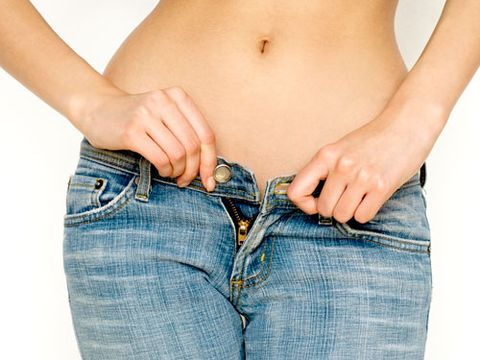 <p>Squeezing into your high school jeans? Think again. You could end up compressing the nerve that runs down the front of your thigh, causing tingling and numbness to occur. Solution: Exhale, own your size, and love it!</p>