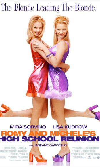 "<div>Romy & Michelle are a pair of lovable blond besties living in L.A. and struggling with their careers when they decide to go to their ten year high school reunion and face the evil popular girls that made their life hell. The payback is super sweet.</div> <div> </div> <div><strong>Who's in it?</strong> The main stars are played by Mira Sorivno and Lisa Kudrow, who are both comedic geniuses. And, woefully undercast! </div> <div> </div> <div><strong>Best Quote:</strong> ""You know, even though I had to wear that stupid back brace and you were kind of fat, we were still totally cutting edge.""</div>"