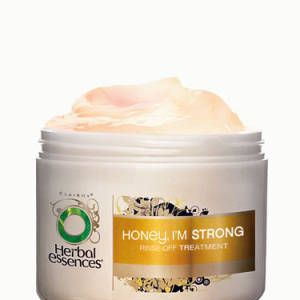 """<p>Already a <em>CFL</em> crush of the week, but still a stand out. Honey has been long known for its repairing benefits for skin and hair. This treatment softens hair quickly—you really can just rub through hair and rinse out when you're in a rush. Bonus: it smells delish.</p><p>$4.49, <a href=""""http://www.drugstore.com/herbal-essences-honey-im-strong-rinse-off-treatment/qxp469865"""" target=""""_blank"""">Drugstore.com</a></p>"""