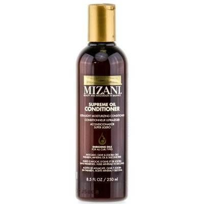 """<p>Despite the number of oils in this conditioner: avocado, olive and jojoba, it's surprisingly light weight yet still ultra hydrating. Leave on for a few minutes before rinsing out.</p> <p>$10, <a href=""""http://www.amazon.com/Mizani-Supreme-Ultra-Light-Moisturizing-Conditioner/dp/B008MOB74E"""" target=""""_blank"""">Amazon</a></p>"""