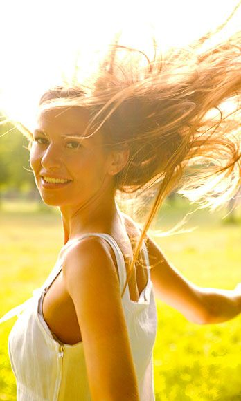 Lip, Hairstyle, Photograph, Happy, Mammal, People in nature, Summer, Sunlight, Beauty, Light,