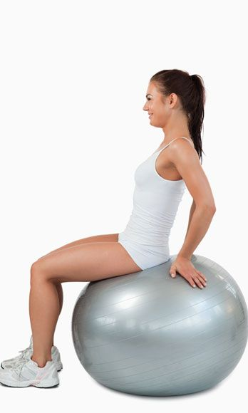 Sit on an exercise ball at the gym, and bounce rhythmically up and down—almost as though you were posting while riding a horse. Do three 30-second sets.