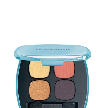 <p>This palette is at once earthy and va-va-vampy! For instant hotness, dust the peachy-salmon hue over lids, blend the gold in the inner corners, and line with the matte navy hue.</p>