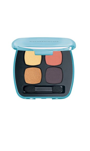 """<p>This palette is at once earthy and va-va-vampy! For instant hotness, dust the peachy-salmon hue over lids, blend the gold in the inner corners, and line with the matte navy hue.</p> <p>Bare Minerals 'The Next Big Thing' Eyeshadow Palette, $30, <a href=""""http://shop.nordstrom.com/s/bareminerals-remix-trend-collection-the-next-big-thing-ready-4-0-eyeshadow-palette/3453280?origin=keywordsearch&contextualcategoryid=60144920&fashionColor=&resultback=0"""" target=""""_blank"""">nordstrom.com</a></p>"""