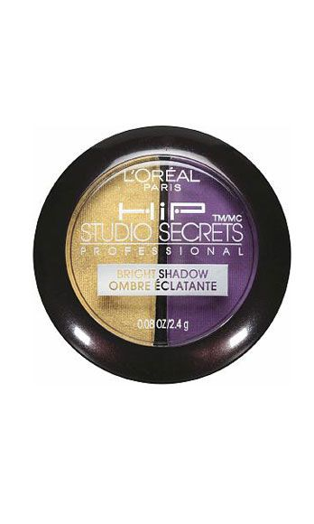 """<p>Hot date? Mesmerize him with this bold look: blend the banana yellow shade on inner corners of your eyes (it instantly brightens the whole area), and apply the intense plum from lashes to crease.</p> <p>L'Oreal HiP Studio Secrets Professional Bright Shadow Duo in Flamboyant, $8, <a href=""""http://www.drugstore.com/loreal-hip-studio-secrets-professional-bright-shadow-duo-flamboyant-538/qxp180399"""" target=""""_blank"""">drugstore.com</a></p>"""