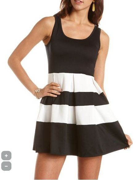 """<p>How many times have we told you black and white is a huge trend? This is a must-have.</p> <p> </p> <p>$28.99, <a href=""""http://www.charlotterusse.com/product/Dresses/entity/dc/999999/sc/3021/232753.uts"""" target=""""_blank"""">Charlotte Russe</a></p>"""