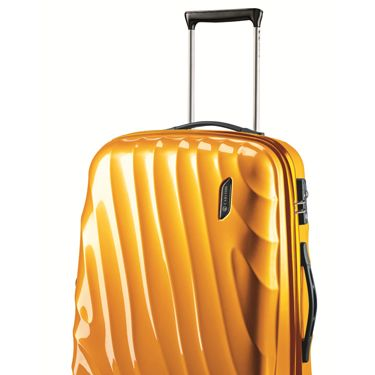 """As the perfect carry on, this light case easily rolls and spins with you wherever you go.<br /><br />Carlton Travel Goods  Dune, $150, <a href=""""http://www.sears.com/carlton-travel-goods-dune-19inch-polycarbonate-spinner-trolley/p-SPM7433378410?prdNo=4&blockNo=4&blockType=G4"""" target=""""_blank"""">sears.com</a>"""
