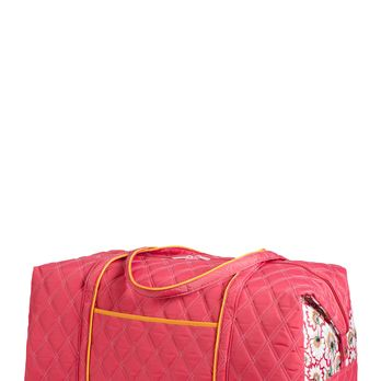 """This bag is so big, you'll feel like making your trip last a little longer. If you call in """"sick"""" to work, we won't tell.<br /><br />Weekender Bag in Bella Fiore Raspberry, $95, <a href=""""http://cindab.com/catalog/Travel-Bags/Weekender-II.html"""" target=""""_blank"""">cindab.com</a>"""