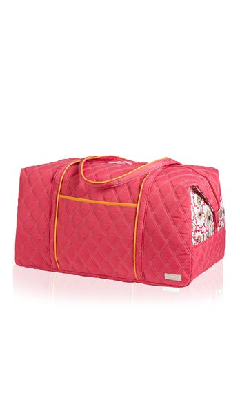 """This bag is so big, you'll feel like making your trip last a little longer. If you call in """"sick"""" to work, we won't tell.<br /><br />  Weekender Bag in Bella Fiore Raspberry, $95, <a href=""""http://cindab.com/catalog/Travel-Bags/Weekender-II.html"""" target=""""_blank"""">cindab.com</a>"""