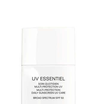 """<p>This brand new, super-gentle lotion shields skin from harsh sunlight, free radicals, and pollution – plus, it's light enough to wear under makeup. And it's Chanel, so wearing it feels super-glamorous.</p><p>Chanel UV Essentiel Complete Sunscreen SPF 30 (avail. in April), $55, <a href=""""http://www.chanel.com/en_US/fragrance-beauty/UV-ESSENTIEL-137036"""" target=""""_blank"""">chanel.com</a></p>"""