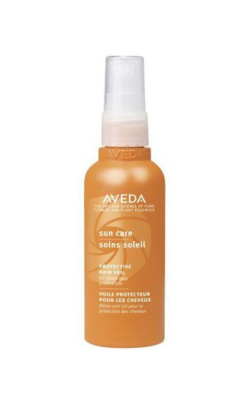 """<p>Before spending the day outside, run this lightweight, sun-shielding serum through hair. Not only does it contain natural UV filters like wintergreen and cinnamon bark, it smells heavenly – thanks to neroli and ylang ylang -- and glossifies strands like nobody's business.</p> <p>Aveda Sun Care Protective Hair Veil, $27, <a href=""""http://www.aveda.com/product/5253/17010/Collections/Sun-Care/index.tmpl?cm_mmc=GoogleProductSearch-_-Null-_-Null-_-Null"""" target=""""_blank"""">aveda.com</a></p>"""
