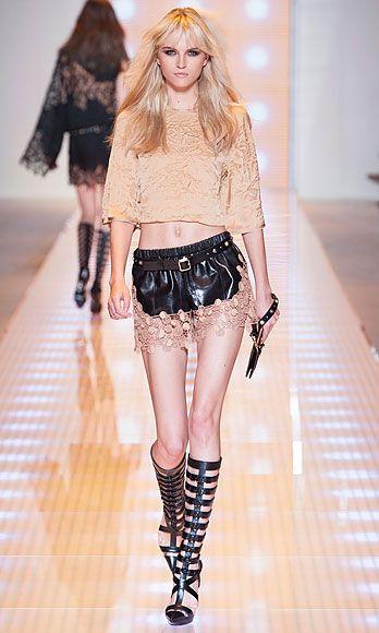 Clothing, Leg, Skin, Fashion show, Human leg, Shoulder, Joint, Fashion model, Waist, Style,