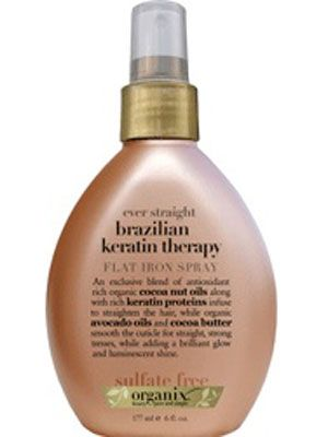 "<p>Spray on a section of hair, then immediately smooth with a flat iron. Protects against heat damage and perfect for silky smooth styles.</p> <p> </p> <p>$7.99, <a href=""http://www.ulta.com/ulta/browse/productDetail.jsp?productId=xlsImpprod3120807"" target=""_blank"">Ulta</a></p> <p><br /><br /></p>"
