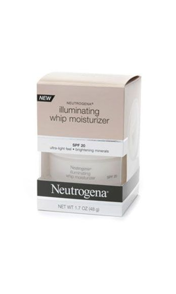 """<p>This do-everything moisturizer is our saving grace in the A.M. Not only does it hydrate dry winter skin and provide SPF, it also contains barely-there mica flecks to create a subtle, shimmery glow. Just the thing to sex-up a blah, tired, or hungover complexion.</p> <p>Neutrogena Illuminating Whip Moisturizer, $15, <a href=""""http://www.drugstore.com/templates/brand/default.asp?catid=24530&aid=336064&aparam=neutrogena%20moisturizer%20spf&scinit1=neutrogena%20moisturizer%20spf&adpos=1s1&creative=23174416275"""" target=""""_blank"""">drugstore.com</a></p>"""