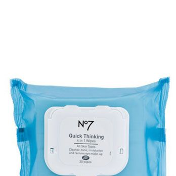 <p>Face wipes are a great way to clean up when you're in a hurry (whether you're at the gym or having a naughty nooner during your lunch break). But these oversized towelettes do more than clean! They contain witch hazel to tone skin, and glycerin to moisturize. Love.</p>