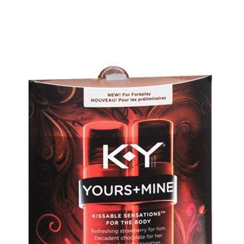 <p>Can't argue with a classic: K-Y Yours and Mine Kissable Sensations boasts chocolate and strawberry flavors, and a bottle for each of you, so everyone gets theirs. Literally.</p>