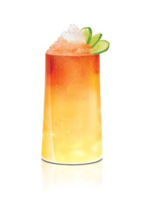 <p>2 oz. SKYY Infusions Moscato Grape<br />1/2 oz. Coco Lopez<br />1/2 oz. Sweetened Passion Fruit Puree<br />1/2 oz. Fresh Lime Juice<br />Top with Angostura bitters<br /> </p> <p>Shake gently, strain over crushed ice in a highball glass. Garnish with a fresh sprig of mint.</p>