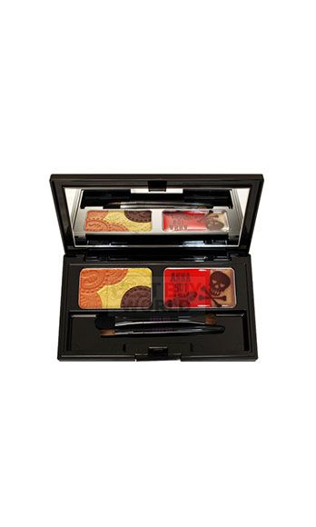 """<p>Artsy-boho with a hint of rock star glam, Sui's cosmetics are as cool as her fashion line! Especially the eye products – it's all about her bright, shimmery cream eye shadows and decadent liquid liners.</p> <p>Anna Sui Eye and Lipcolor Palette, $30, <a href=""""http://www.annasui.com/en/cosmetics/"""" target=""""_blank"""">annasui.com</a></p>"""
