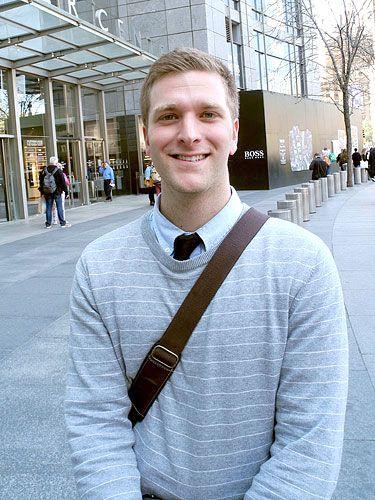 Sleeve, Collar, Standing, Street fashion, Sweater, Pedestrian, Button, Chest, Belt, Pocket,